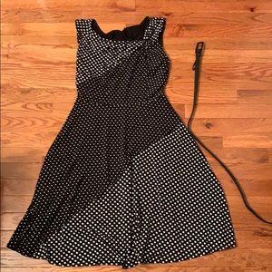 Black and White polka Dot Vintage Feel Dress